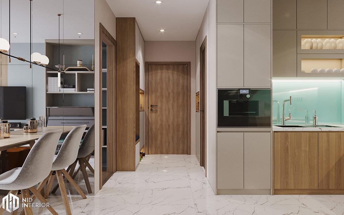 Thiết kế nội thất căn hộ Centum Wealth 94m2 - Cửa vào