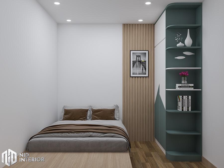 Giường ngủ dạng bục đã đem đến cho căn phòng ngủ sự hiện đại.