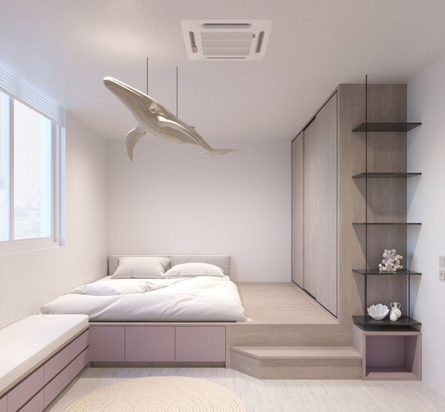 Giường bục - Sự lựa chọn hoàn hảo cho phòng ngủ diện tích nhỏ