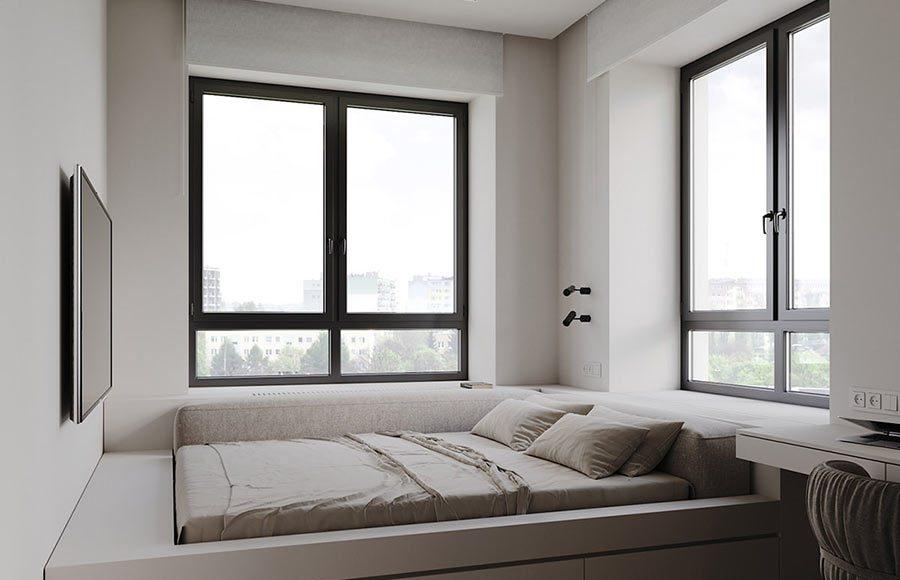 Giường ngủ bụcthiết kế liền kề tử đựng quần áo