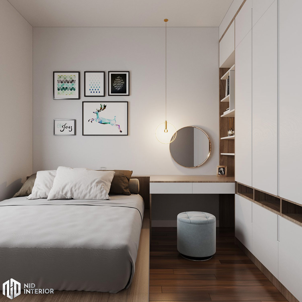 Thiết kế nội thất căn hộ Lavita Charm 67m2 - Phòng master