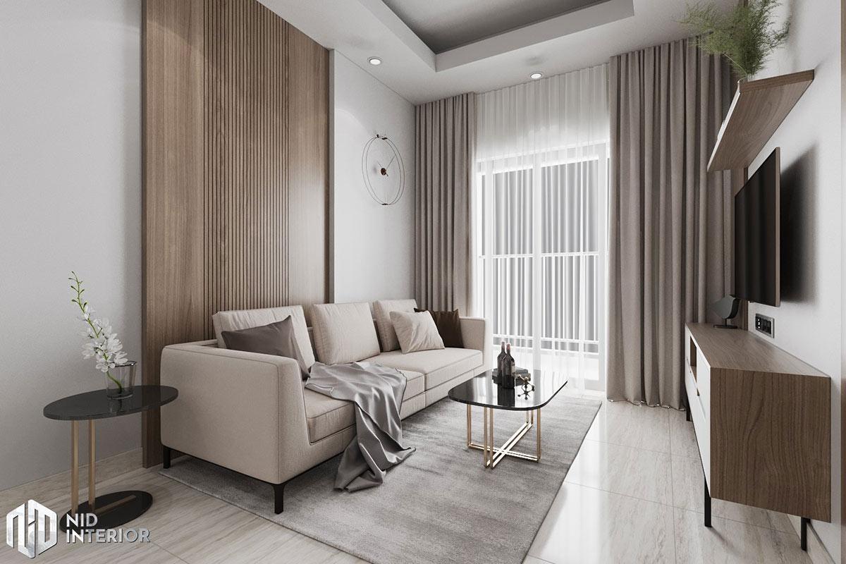 Thiết kế nội thất căn hộ Lavita Charm 67m2 - Sofa & bàn trà