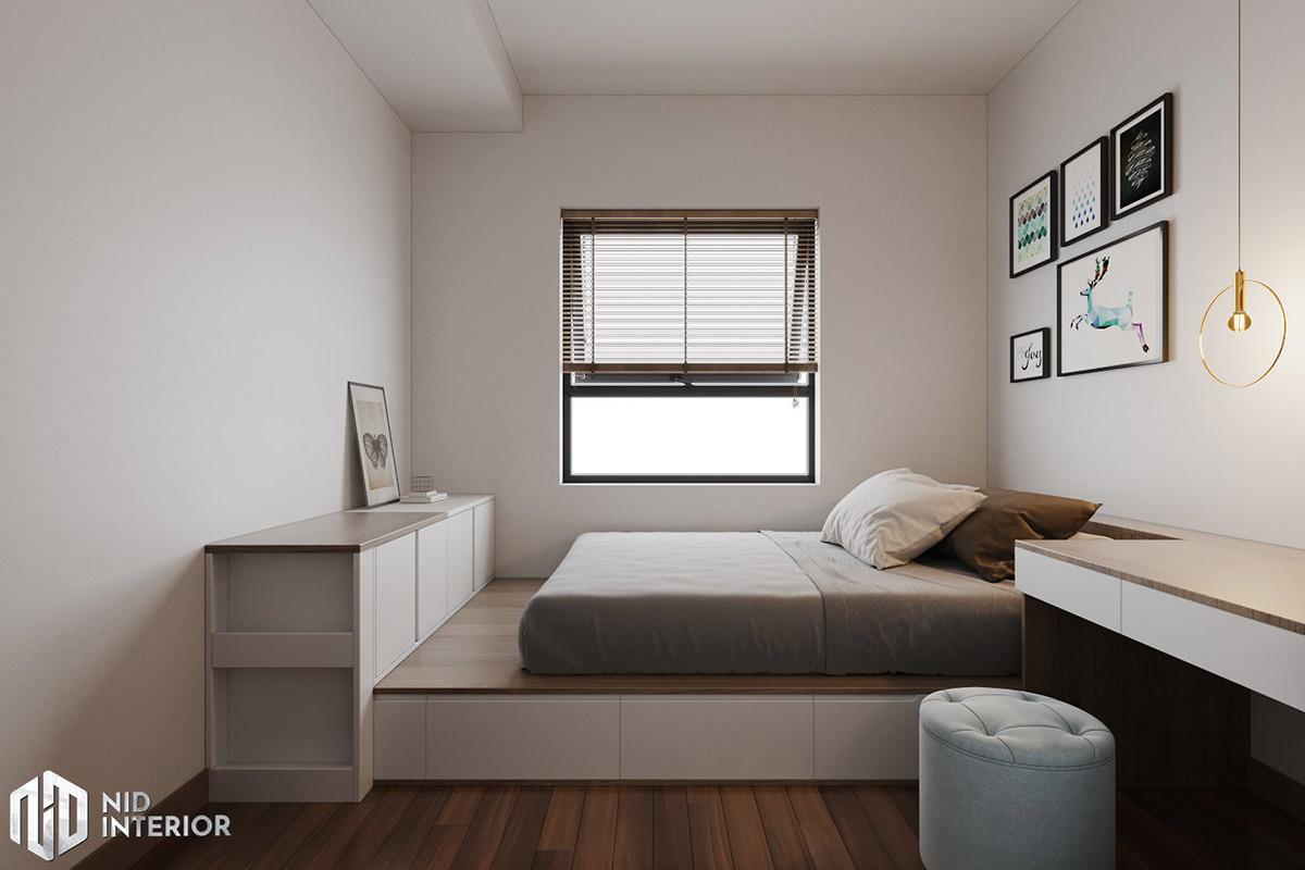Thiết kế nội thất căn hộ Lavita Charm 67m2 - Giường phòng master