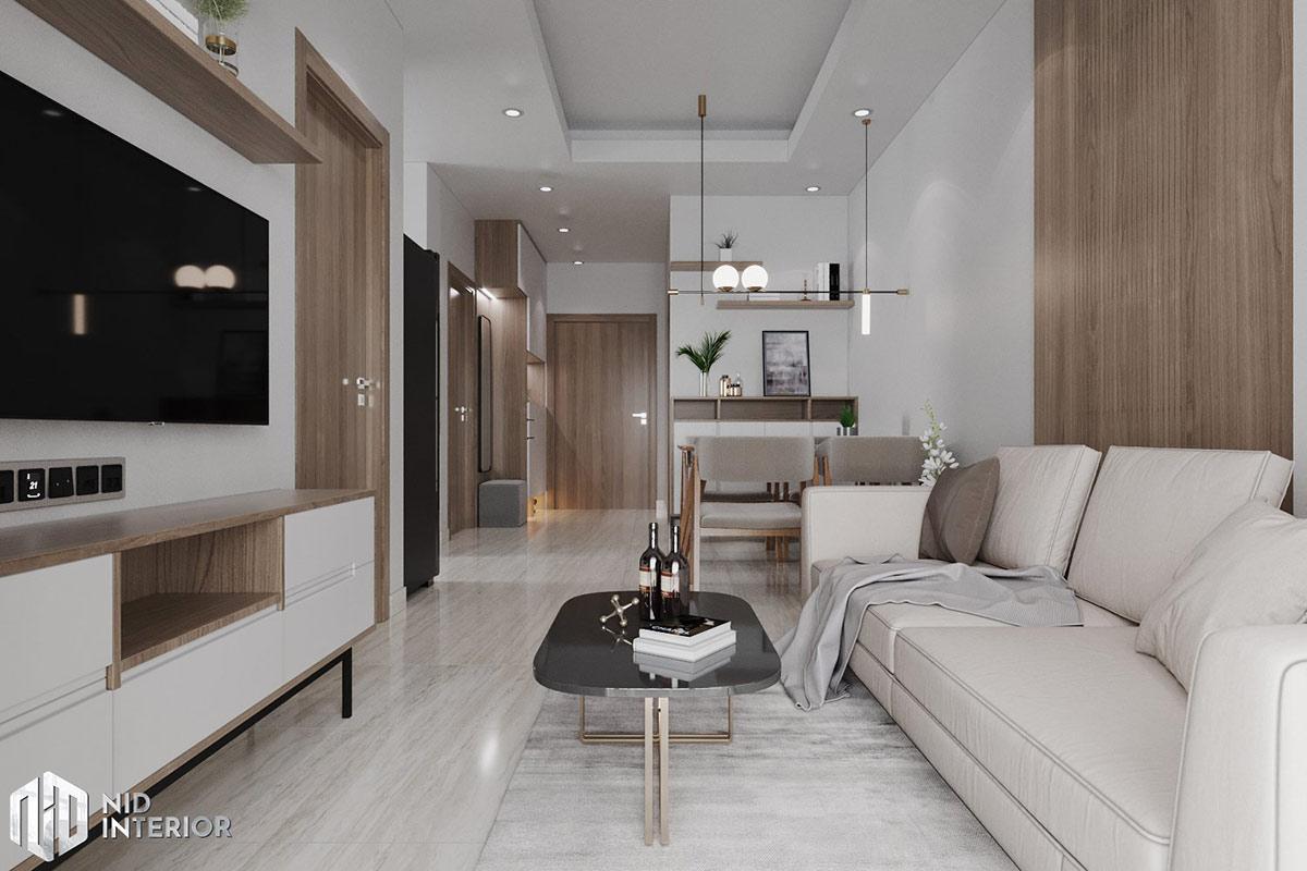 Thiết kế nội thất căn hộ Lavita Charm 67m2 - Phòng khách