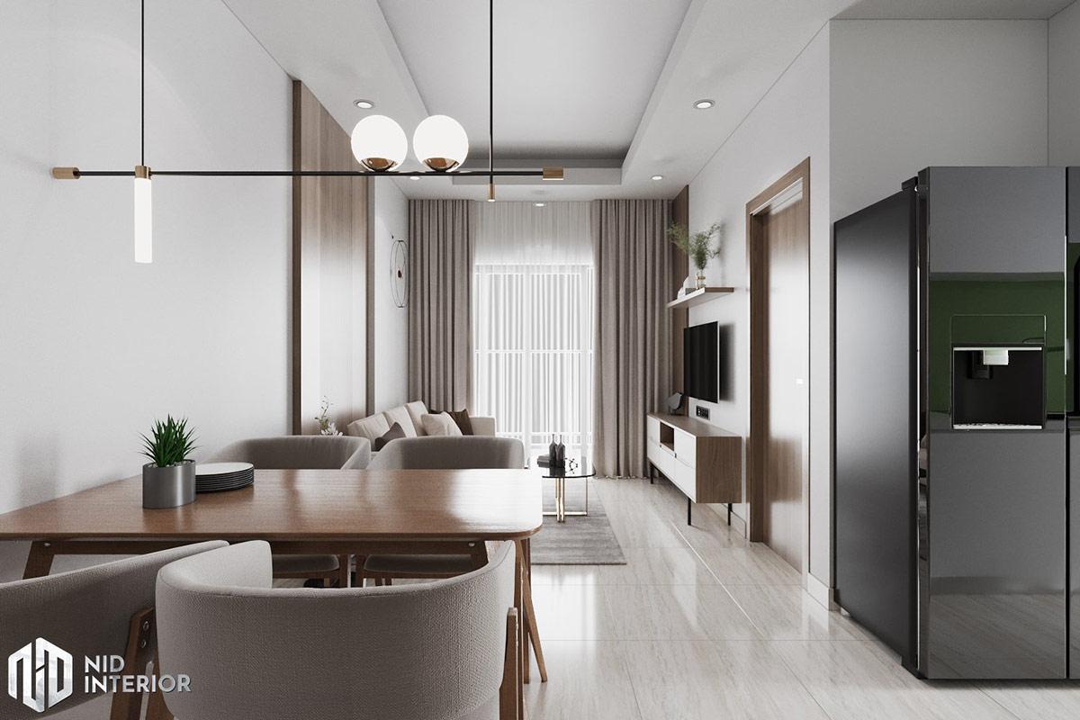Thiết kế nội thất căn hộ Lavita Charm 67m2 - Không gian phòng khách
