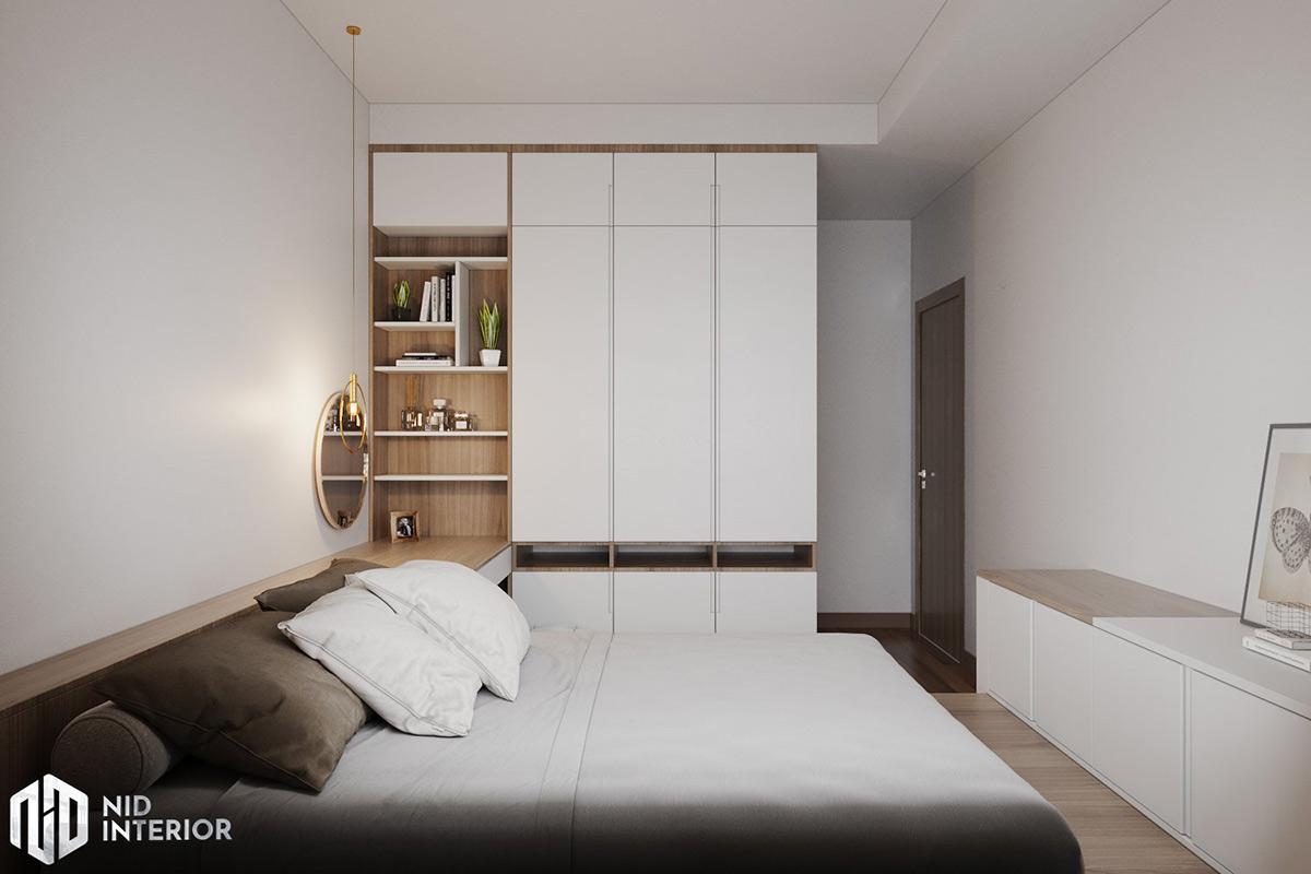 Thiết kế nội thất căn hộ Lavita Charm 67m2 - Tủ quần áo phòng master