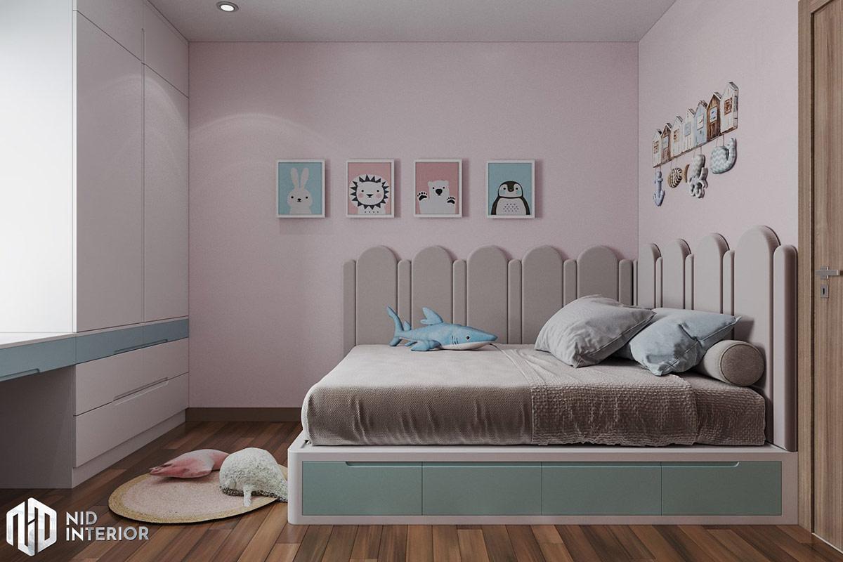 Thiết kế nội thất căn hộ Lavita Charm 67m2 - Giường phòng trẻ em