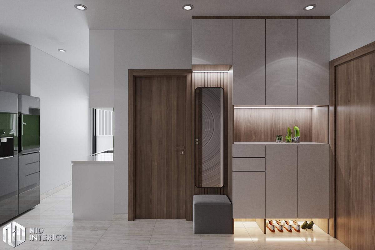 Thiết kế nội thất căn hộ Lavita Charm 67m2 - Tủ giày