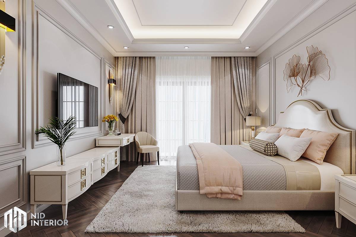 Nhà phố Long An Tân Cổ Điển - Phòng ngủ