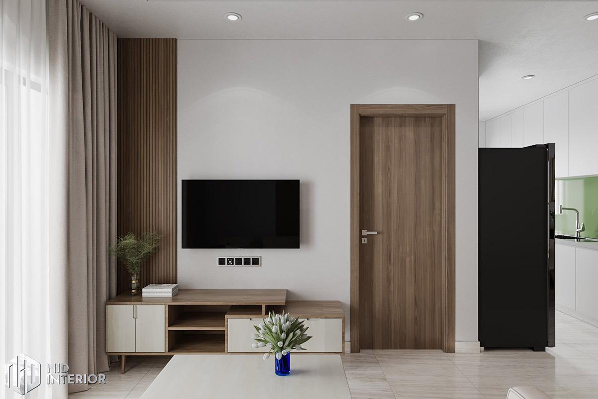Thiết kế nội thất căn hộ Lavita Charm 2 phòng ngủ - Kệ tủ tivi