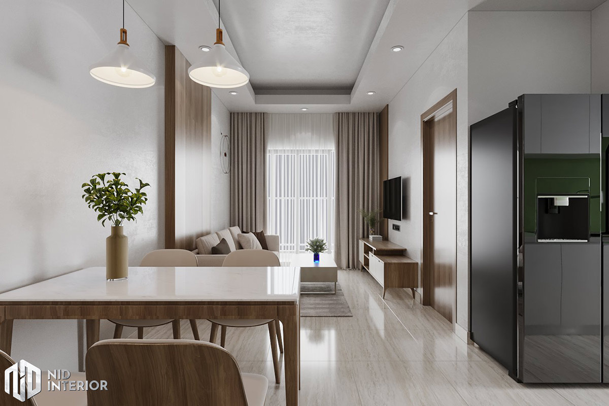 Thiết kế nội thất căn hộ Lavita Charm 2 phòng ngủ - Phòng khách