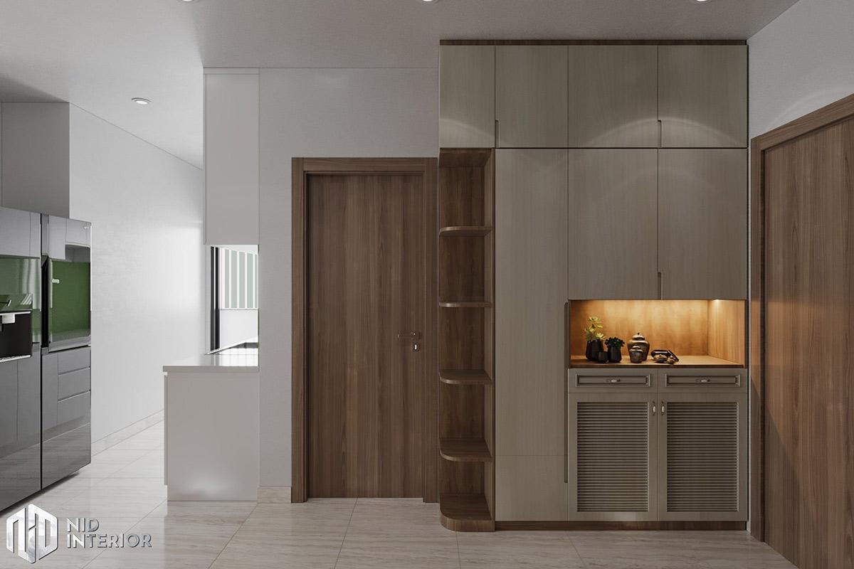 Thiết kế nội thất căn hộ Lavita Charm 2 phòng ngủ - tủ giày