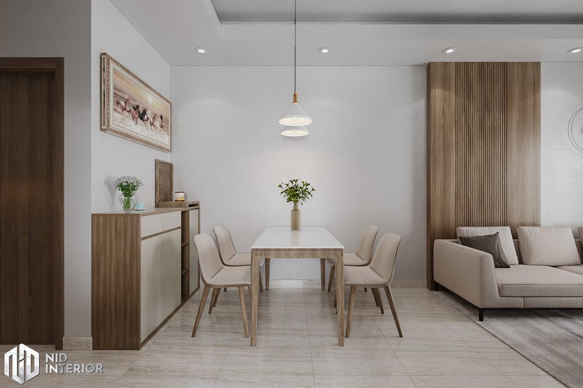 Thiết kế nội thất căn hộ Lavita Charm 2 phòng ngủ - bàn ăn