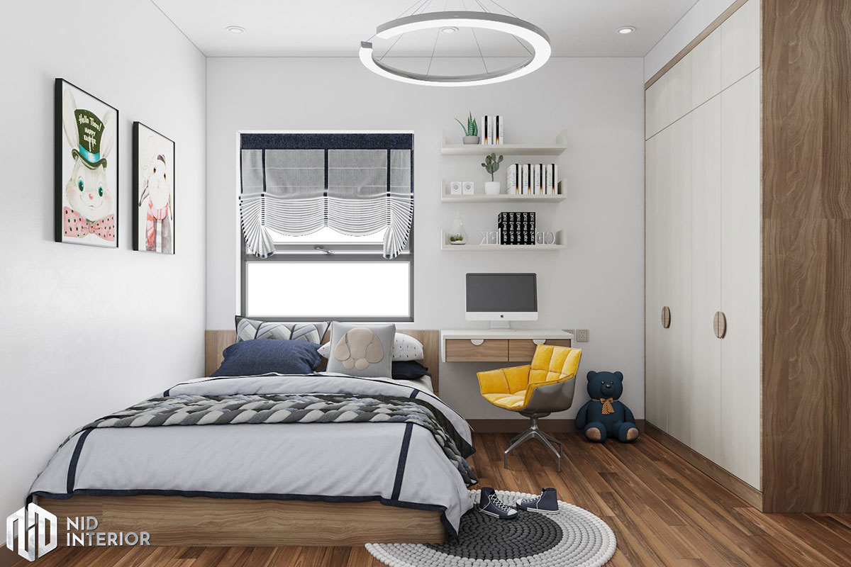 Thiết kế nội thất căn hộ Lavita Charm 2 phòng ngủ - Phòng ngủ nhỏ