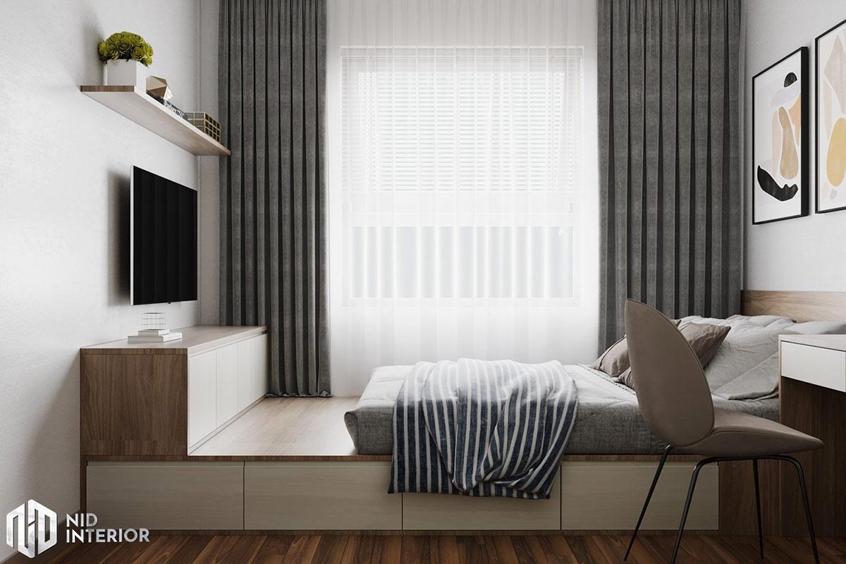 Thiết kế nội thất căn hộ Lavita Charm 2 phòng ngủ - Phòng ngủ Master