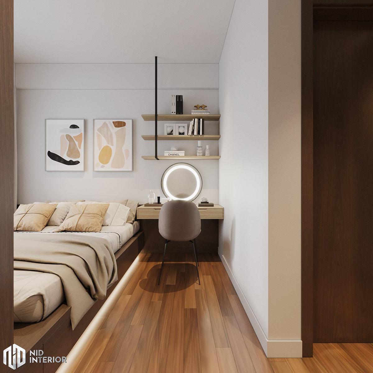 Thiết kế nội thất căn hộ Lovera Vista Bình Chánh - Phòng ngủ