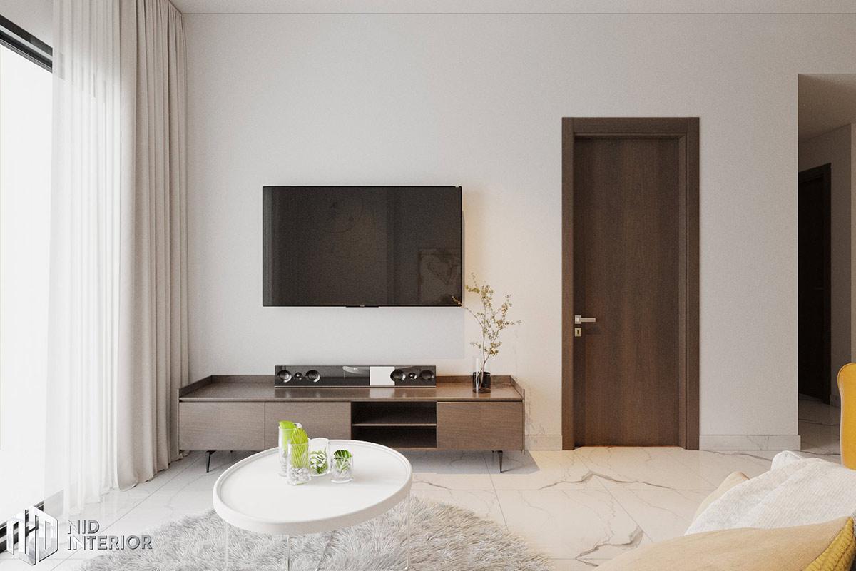 Thiết kế nội thất căn hộ Lovera Vista Bình Chánh - Phòng khách