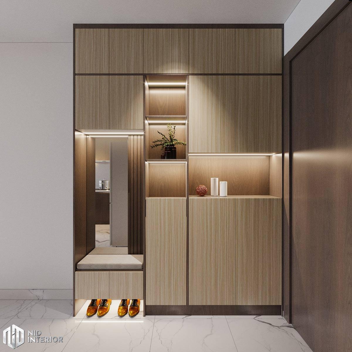 Thiết kế nội thất căn hộ Lovera Vista Bình Chánh - Tủ giày