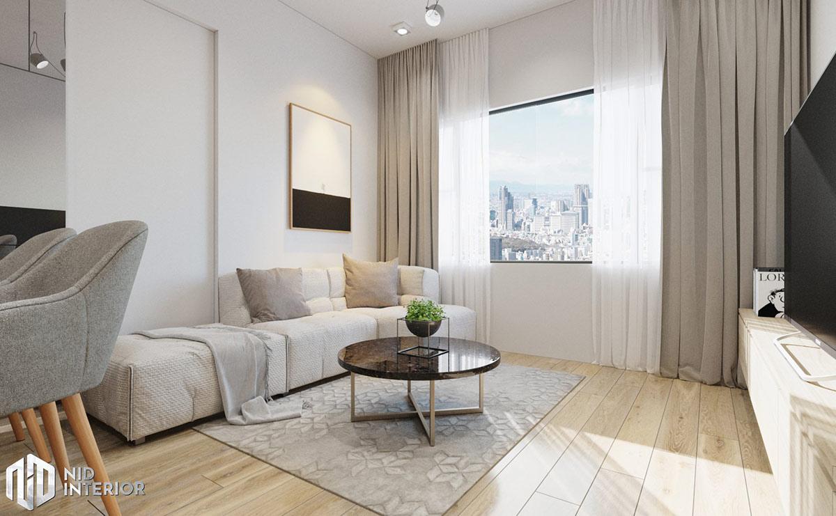 Thiết kế nội thất căn hộ Flora Novia 56m2 - Sofa