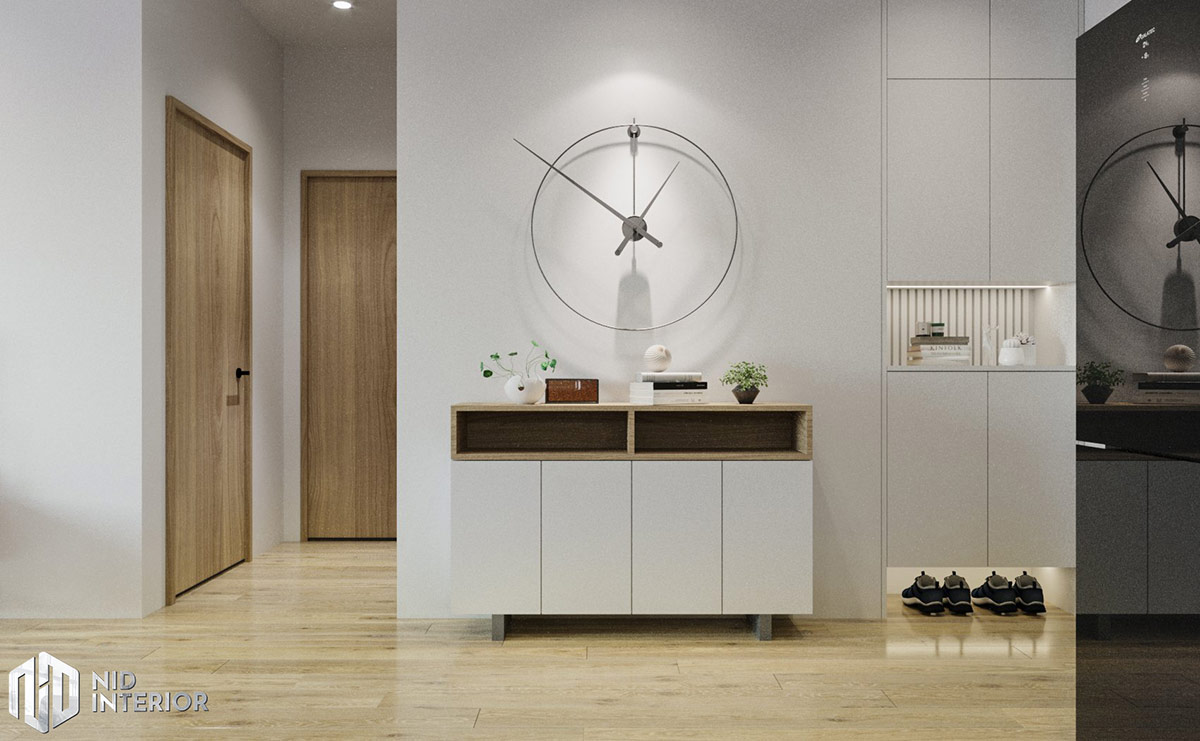 Thiết kế nội thất căn hộ Flora Novia 56m2 - Tủ trang trí