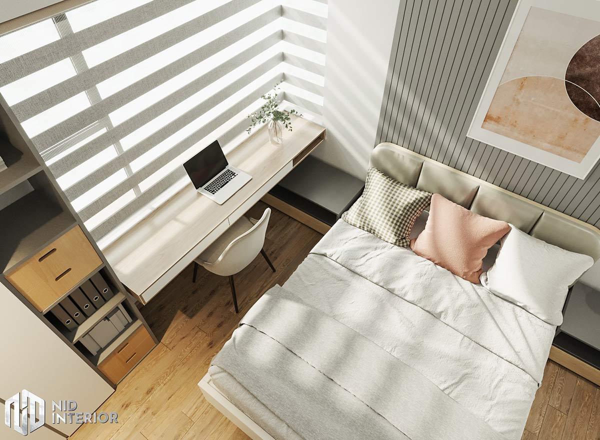 Thiết kế nội thất căn hộ Flora Novia 56m2 - Bàn làm việc
