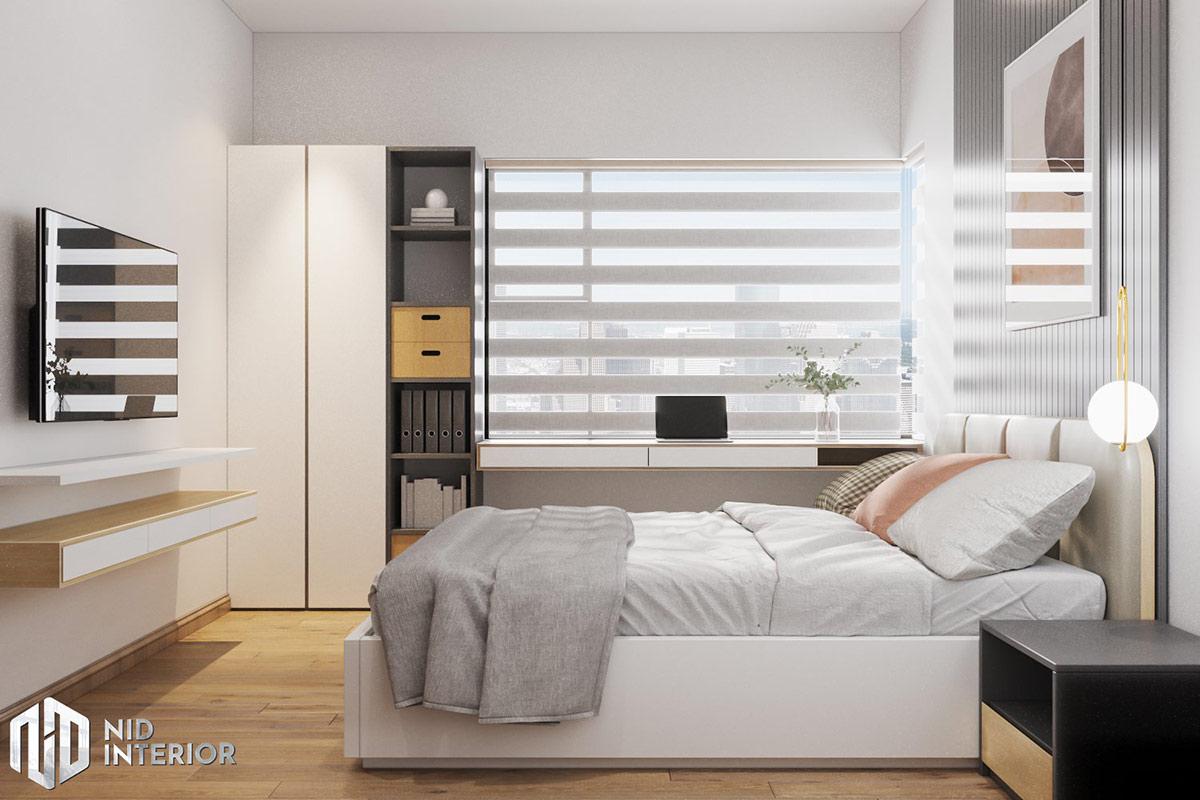 Thiết kế nội thất căn hộ Flora Novia 56m2 - Phòng ngủ