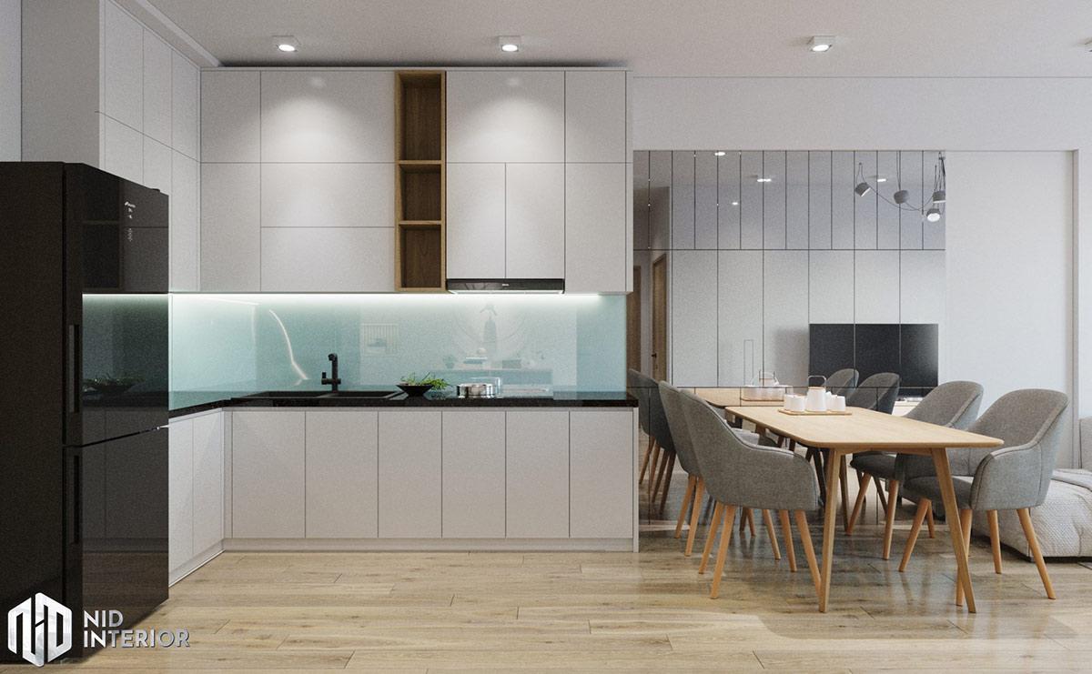 Thiết kế nội thất căn hộ Flora Novia 56m2 - Bếp