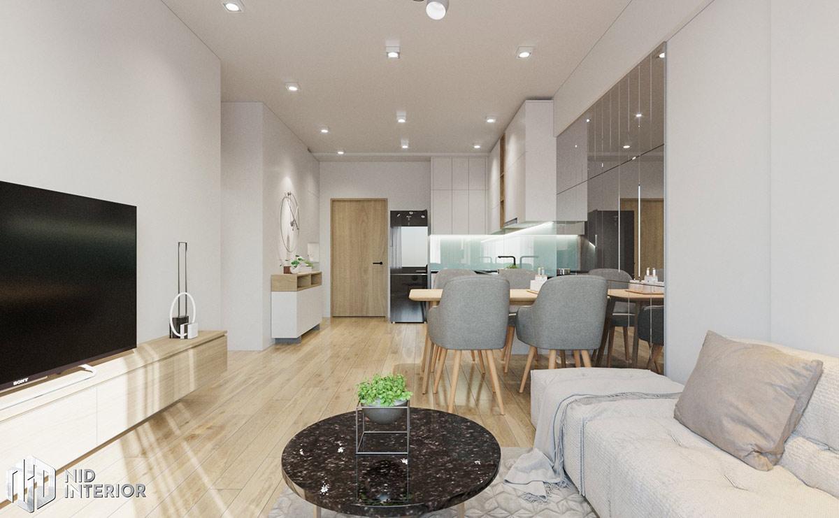 Thiết kế nội thất căn hộ Flora Novia 56m2 - Khu vực chung