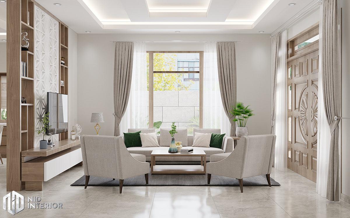Thiết Kế Kiến Trúc & Nội Thất Nhà Đẹp Tiền Giang - Phòng khách
